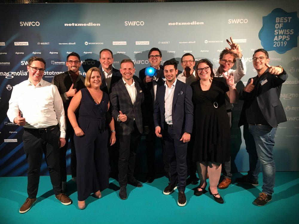 Foto-Team Gewinner Best of Swiss Apps Award