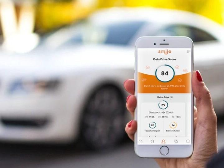Smartphone mit Drive Coach