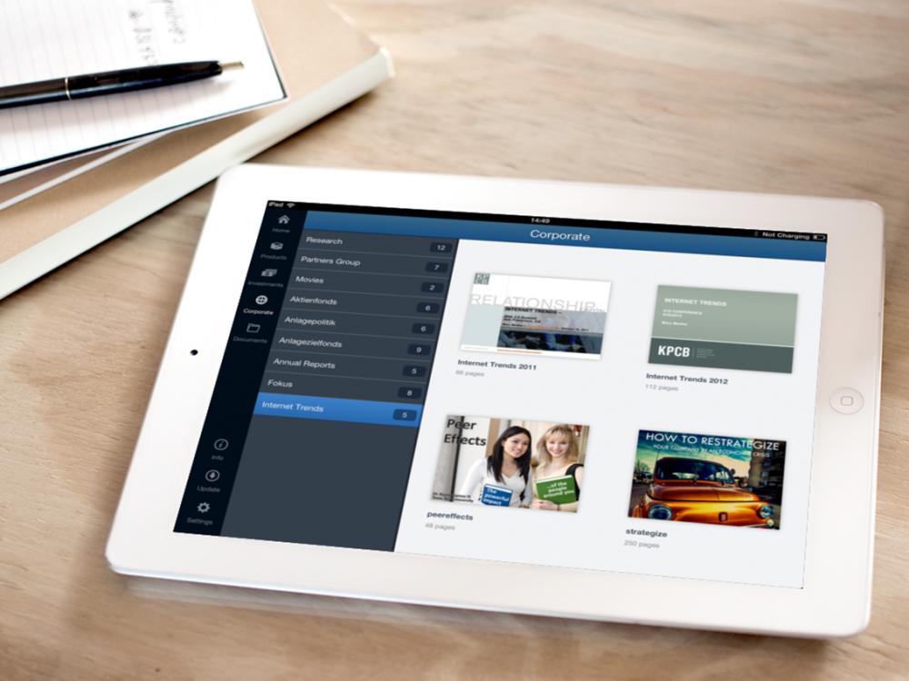 PartnersGroup Screen iPad